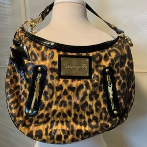 Vintage Betsey Johnson Leopard Satchel Purse
